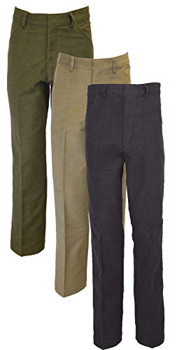 Walker & Hawkes - Mens Classic Moleskin 100% Cotton Pants - Beige - W38 Short (29'')