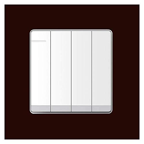 86 Tipo Interruptor de Rocker Casa Blanco Interruptor de panel grande sin bordes 1way, fijación de luz de 2 vías Uniforme o doble Control de Rocker Switch PC Durable Tecla Interruptor Placas con luz d