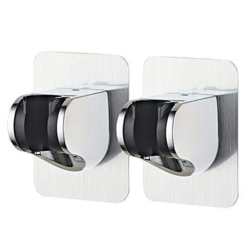 Handbrause Halterung Delmkin 2 Stück Verstellbar Brausehalter Duschhalterung Ohne Bohren, 360° Drehbar für Dusche