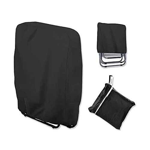 Verdelife Cubierta plegable de la silla, cubierta plegable al aire libre resistente a los rayos UV resistente al polvo impermeable