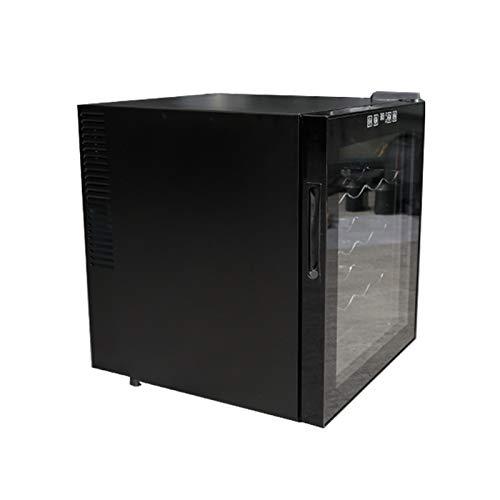 LYYAN vinoteca Nevera,refrigerador de Hielo refrigerado para Vino, Mini refrigerador de Vino Compacto Independiente con Capacidad para 16 Botellas