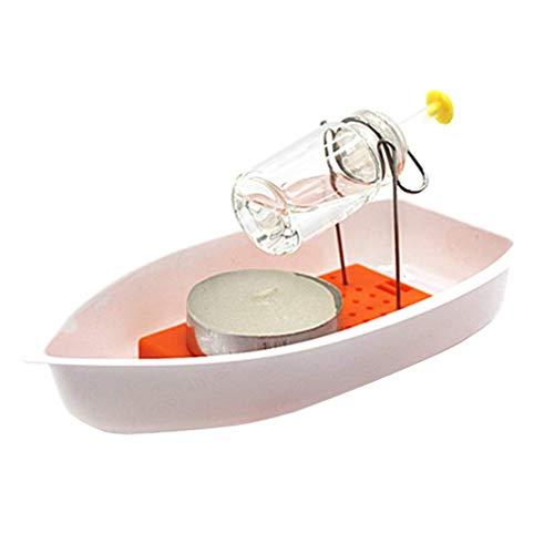 ZXYAN Wissenschaft Gadget Dampf Candle Powered Boot Dampf Fahrzeug Spielzeug für Kinder: Student Physik Lernen DIY Bausätze