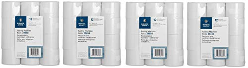Business Source Receipt Paper 2.25 Inch x 150 Pack of 12 Rolls - White (28650) (Fоur Paсk)