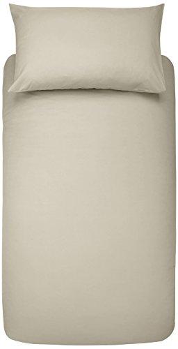 Amazon Basics Duvet Set, Beige, 135x200cm/50x80cmx1