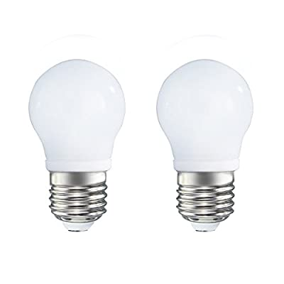 2-Pack Non-dimmable 3w (15w Equivalent) LED Light A45 Bulbs E27 Base 270 Degree Beam Angel