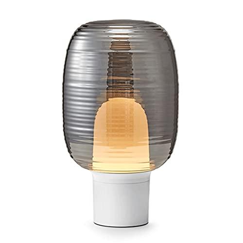 Lampara Mesilla Cubierta de vidrio para el hogar Lámpara de mesa de noche moderna creativa de la cama de la cama de la mesas de noche Sala de estudio Sala de estar Decoración Dormitorio Lámpara de mes