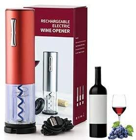 Gecheer Sacacorchos Eléctrico de Acero Inoxidable, Abridor Automático de Botellas de Vino...