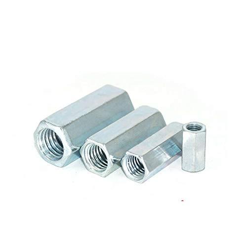 M6-M20 Varilla de acoplamiento Long Hex Hex Tuts Acero de carbono Zinc Plazado Hexagon Conexión Hilo Tuerca Agujero Bar YUAN CHUANG (Size : M8x12x40mm(5pcs))