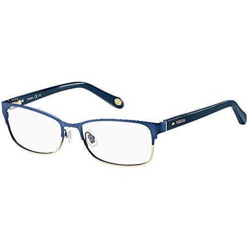 Fossil Brillengestelle FOS 6065 Rechteckig Brillengestelle 53, Mehrfarbig