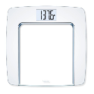 Beurer Glass Digital Scale in White/Chrome Finish | Bed Bath & Beyond