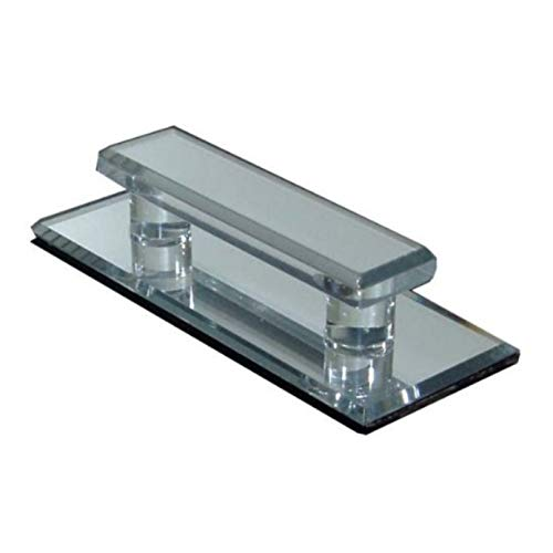 LCR Acryl-Griff, transparent (große Größe, Aufkleber), Spiegeleffekt