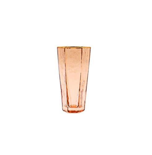 Copas de champán Nordic High-end Hex Hammer Stripes Phnom Penh Glass Glass Glass Home Whisky Glass Cup 2 Pack, trompeta de alta gama