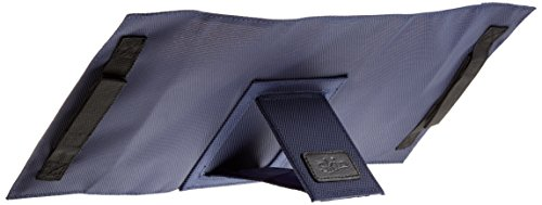 LexSkin blau: Buchhülle mit integrierter Buchstütze und Trageriemen in Material Nylon/Leder, Farbe blau
