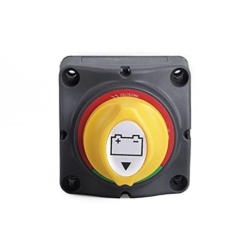 12V-60V 100A-300A Coche Auto RV Barco marino Securador de batería Selector Aislador Desconectar interruptores de corte rotativo Perillas YC101593 Piezas de botones ligeros ( Color : Multi-colored )