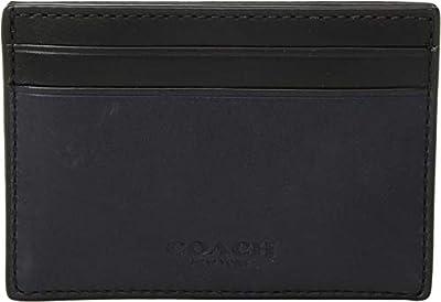 COACH Men's Sport Calf Leather Money Clip Card Case Midnight One Size
