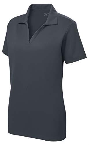 Women's Dri-Equip Short Sleeve Racer Mesh Polo Shirt-S-Graphite