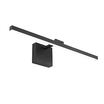 Ralbay 23.6 Inch 14W Modern LED Black Vanity Light Fixtures for Bathroom Lighting Aluminum Rotatable 6000K Cool White Light