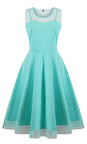 KILOLONE KILOLONE Damen 1950er Jahrgang Kleider Spitzenkleid Langarm Cocktailkleid Knielang Rockabilly Kleid
