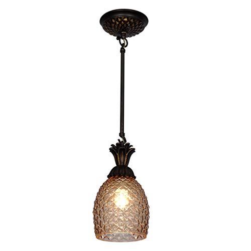 Hanglampen, hanglampen, kroonluchter, duurzame kroonluchter, Amerikaanse stijl, enkele kop, ananasvorm, kleine kroonluchter, slaapkamer, nachtkastje, restaurant, wastafel, kroonluchter, hang&pen