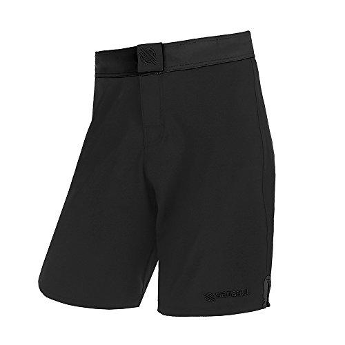 Sanabul Essential MMA BJJ Cross Training Workout Shorts (32 inch W, Black)