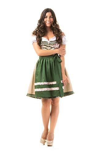 Trachtl.de Dirndl Trachtenkleid Damen Jenny IN GRÜN 36
