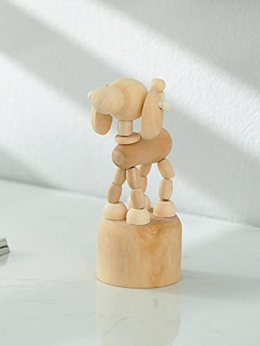 DXZQ Esculturas y Accesorios Decorativos Estatuas Decoraciones de Madera de Escritorio Animales Juguetes para niños Marionetas Burro Decoraciones de gabinetes de TV