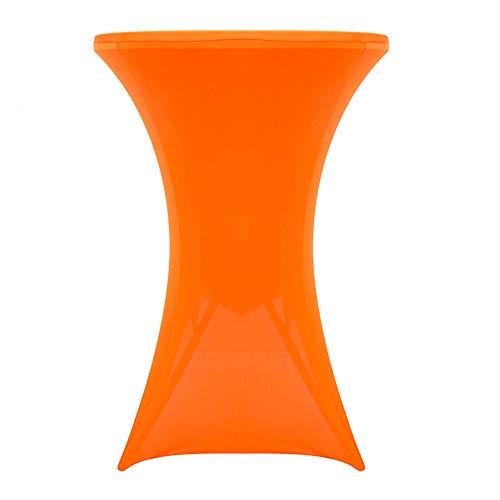 PUDDINGHH® Stehtischhusse Tischhusse Husse Für Stehtisch Bistrotisch Tisch 2 Verschiedene Größen Ø 60/70 cm - Orange,80 * 110cm,1pack