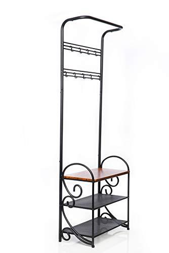 Elite Coat Rack Bench - Coat And Shoe Rack - Elegant and Stylish Design Coat Rack With Bench - Shoe And Coat Rack