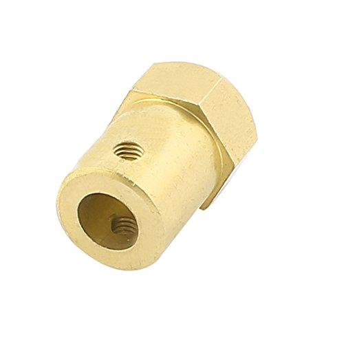 Aexit 6mm Bohrung Messing-Reifenkupplungsgelenk-Sechskoppler Gold Tone (63694d75c38a43e4da17a2d4db2bdb86)