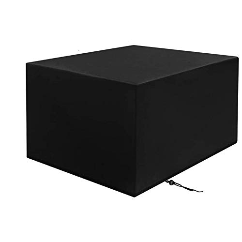 H.aetn Garden Furniture Covers Waterproof Square 600D,140x140x90cm Furniture Covers for Outside Rectangle Dust-proof Patio Furniture Cover Tear Resistance Outdoor Table Covers -Black