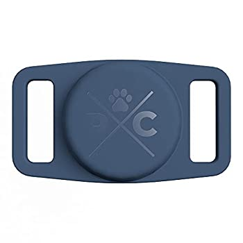 Pup Culture Airtag Dog Collar Holder - Silicone Airtag Case for Dog Collar - Waterproof Airtag Loop for GPS Dog Tracker - Dog Trackers for Apple iPhone - Airtag Pet - Dog Airtag Holder