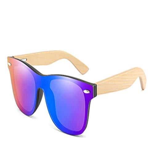 NZHK Moda Gafas de Sol de bambú de los Hombres de Madera Conductor Gafas de diseñador for Hombres/Mujeres Gafas de Sol polarizadas (Color : C)