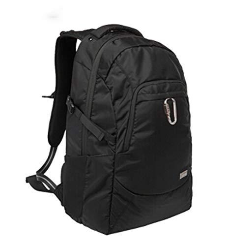 Zaino casual da viaggio, antifurto, impermeabile, borsa per computer portatile, borsa per studenti, scuola, stile Oxford, per uomini e donne Nero 56 cm