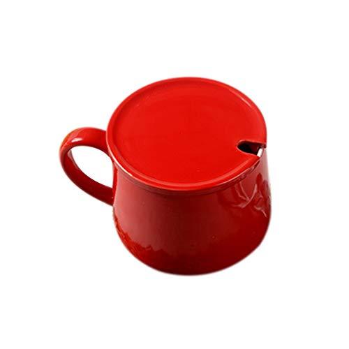 Cabilock 400Ml Rote Keramikbecher Weihnachten Kaffee Tee Tasse 3D Rentier Elch in Tasse Wasser Saft Trinken Becher Weihnachten Stil Teetasse mit Deckel