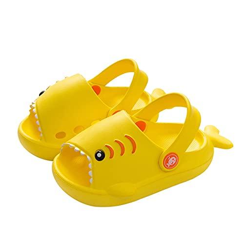 ZZSNWWL Requin Pantoufles pour Mignon Sandales De Enfants en Bas âge Dessin Animé 3D Chaussures De Plage Garçon Fille D'été Bain Doux Piscine Bébé Antidérapantes Talon Plat Diapositives