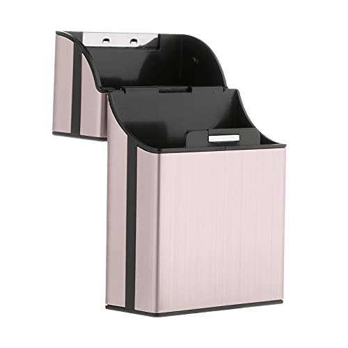 Sharplace Retro in Alluminio Cigarette Box con Una Sola Mano Tasca Aperta Supporto per 20 Sigarette Regalo degli Uomini - Rosa