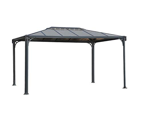 Palram Martinique 3600 Grey Garden Gazebo - Robust Structure for Year-Round Use