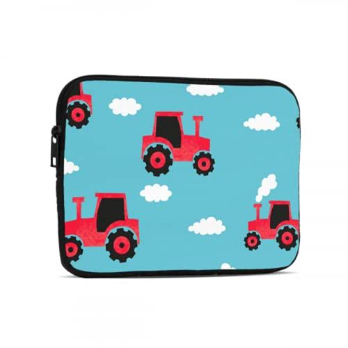 Estuche Impermeable de Dibujos Animados Lindo Infantil Divertido Tractor Fundas para Tableta compatibles con iPad 7.9/9.7 Pulgadas Bolsa Protectora de Tableta con Cremallera de Neopreno a Prueba de