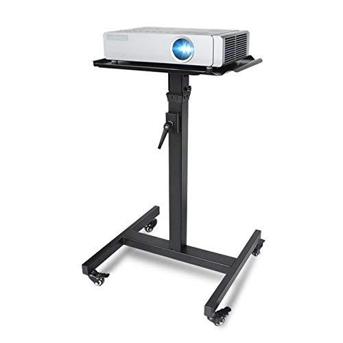 Atriles para proyectores Proyector móvil negro y soporte for computadora portátil, carrito de balanceo con bandeja, trabajo pesado, altura multifunción, laptop ajustable, portátil y proyector de la pr