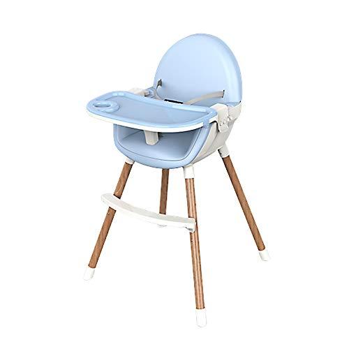 FairOnly 2-in-1 Kindermultifunktionsbaby-speisender Stuhl-Faltbarer beweglicher Baby-Stuhl-Sitz Himmelblau - Baby