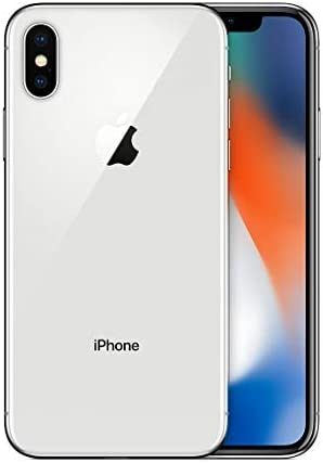 Apple iPhone X, 256GB, Silver – for Cricket Wireless (Renewed)