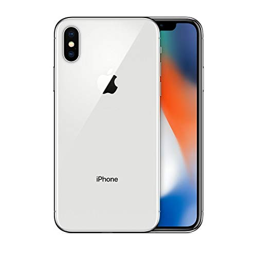 Apple iPhone X, 256GB, Silver - For Verizon (Renewed)