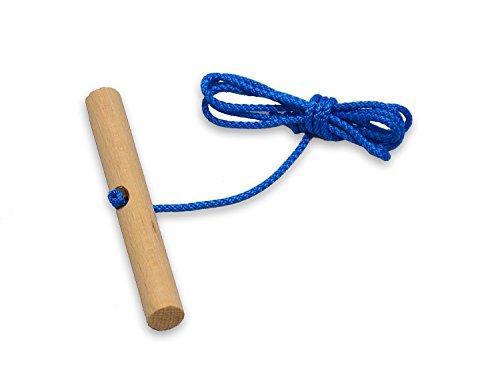 Best For Kids Schlittenseil Zugseil 1,50 mtr. lang mit Buchenholzgriff für Schlitten Bobs Rodel