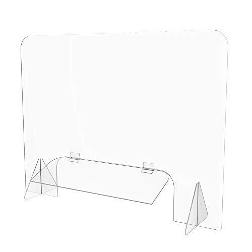 Office Reception Desk Top Sneeze Protection Screen Easy clean acrylic
