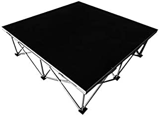 Hisonic PS01 4' X 4' Portable Stage Platform Modular System with 2' (Collapsed) Riser