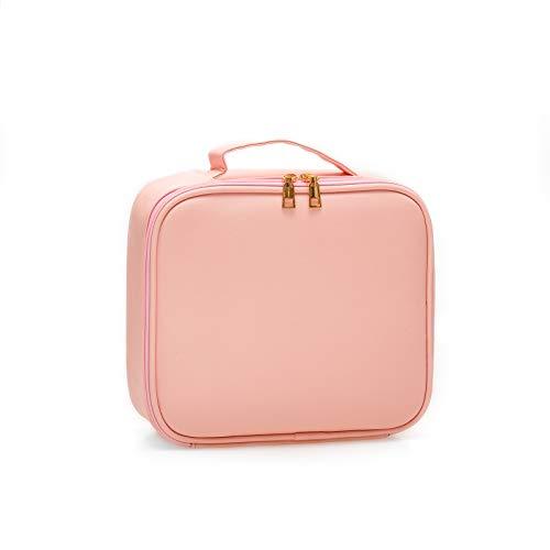 Kit de Maquillaje Neceser Make Up Bolso de Cosméticos Portable Organizador Maletín para Maquillaje Maleta de Makeup Profesional Cuero de la PU(Rosado)
