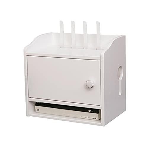 Caja de almacenamiento del enrutador WIFI, caja de almacenamiento de caja de gato óptica, acabado de tablero de hub montado en pared, socket, caja de almacenamiento de almacenamiento de fuente de alim