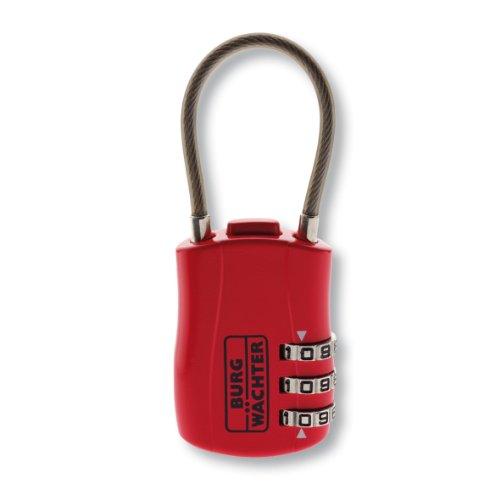 Burg-Wächter Combi 73 30 SB Lucchetto a Combinazione Regolabile, Rosso