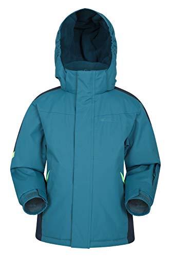 Mountain Warehouse Raptor Boys Snow Jacket - Winter Ski Coat for Kids, Girls Petrol Blue 5-6 Years