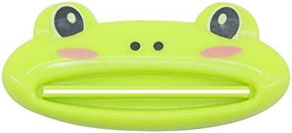 PASOW Cartoon Animal Plastic Frog Cat Panda Pig Shaped Toothpaste Cream Squeezers Green Frog product image